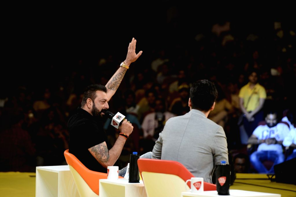Actor Sanjay Dutt during the India Today Mind Rocks Youth Summit in New Delhi on Sept 16, 2017. - Sanjay Dutt