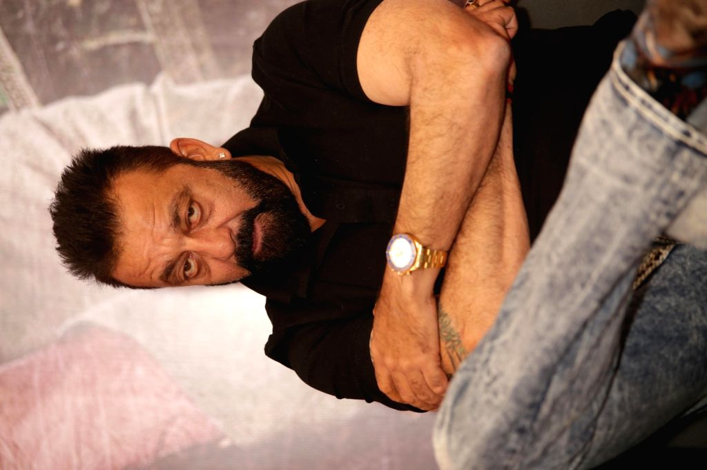 """Actor Sanjay Dutt during the promotion of his upcoming film """"Bhoomi"""" in New Delhi on Sept 16, 2017. - Sanjay Dutt"""