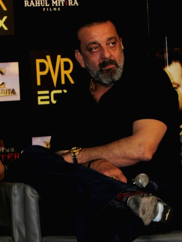 """Actor Sanjay Dutt during the promotion of his upcoming film """"Saheb Biwi Aur Gangster 3"""" in Noida on July 25, 2018. - Sanjay Dutt"""
