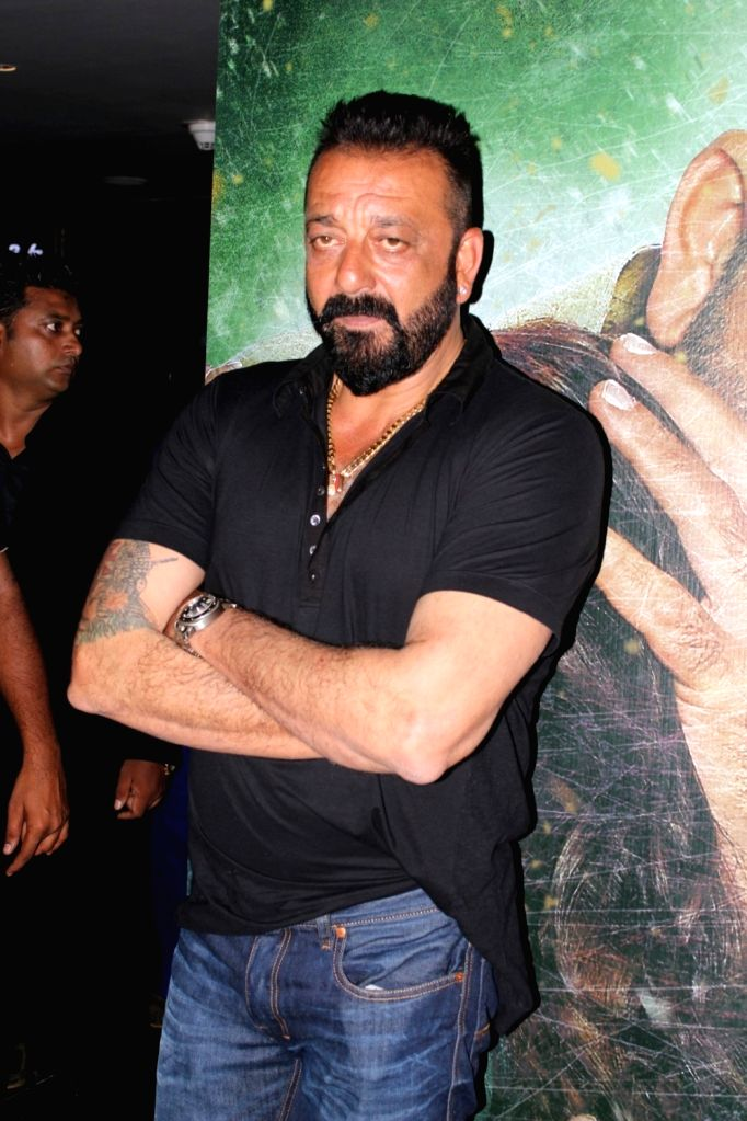 """Actor Sanjay Dutt during the trailer launch of his upcoming film """"Bhoomi"""" in Mumbai on Aug 10, 2017. (Photo: IANS] - Sanjay Dutt"""