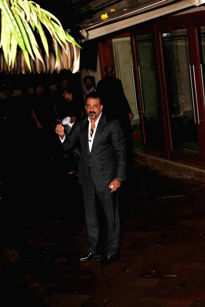 Actor Sanjay Dutt outside his residence in Mumbai, on July 28, 2016. Sanjay Dutt will be celebrating his 57th birthday at his residence with his friends and family. - Sanjay Dutt