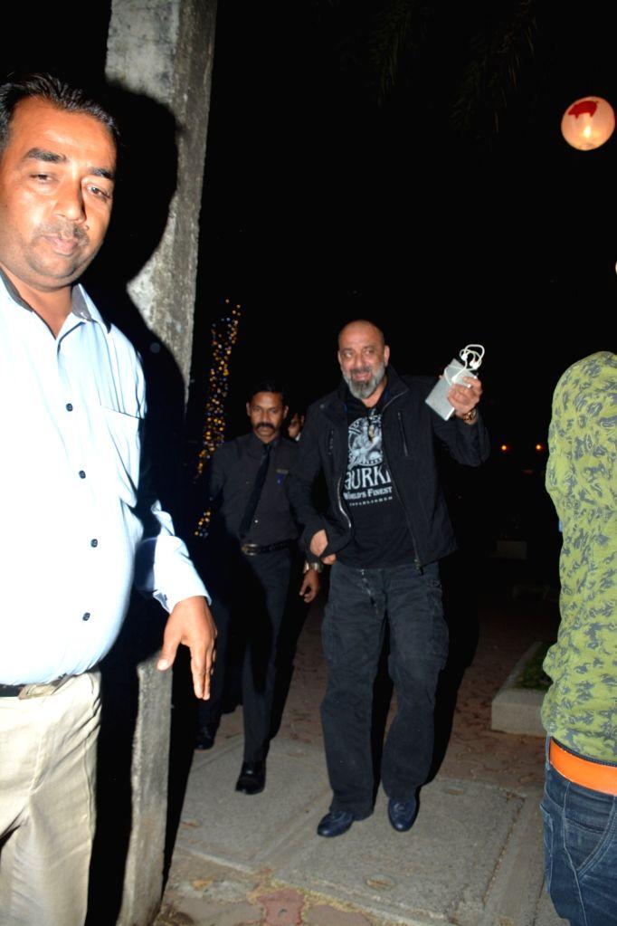 Actor Sanjay Dutt seen at a Mumbai restaurant on Feb 20, 2019. - Sanjay Dutt