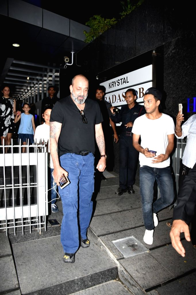 Actor Sanjay Dutt seen outside a restaurant in Mumbai's Bandra, on May 27, 2019. - Sanjay Dutt
