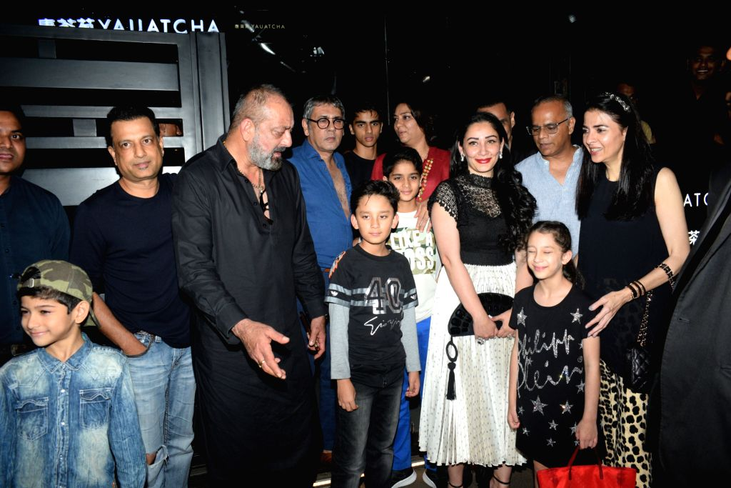 Actor Sanjay Dutt seen with his family and friends at a restaurant in Bandra, Mumbai on July 28, 2019. - Sanjay Dutt