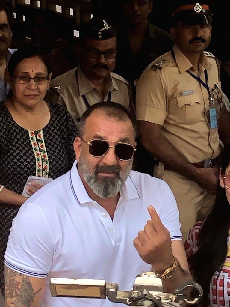2019 Lok Sabha Elections - Phase 4 - Sanjay Dutt casts vote