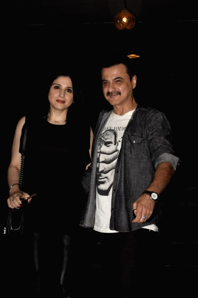 Actor Sanjay Kapoor along with wife Maheep seen at Soho house Juhu in Mumbai on Dec 8, 2018. - Sanjay Kapoor