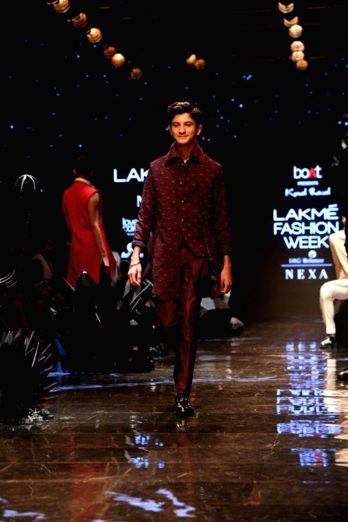 Actor Sanjay Kapoor's son Jahaan Kapoor at the Lakme Fashion Week Winter/Festive 2019 in Mumbai on Aug 24, 2019. - Sanjay Kapoor and Jahaan Kapoor