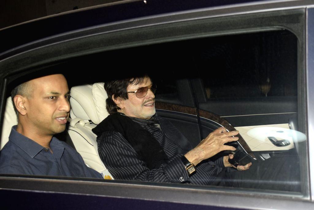 "Actor Sanjay Khan at the screening of film ""Gully Boy"" in Mumbai, on Feb 15, 2019. - Sanjay Khan"