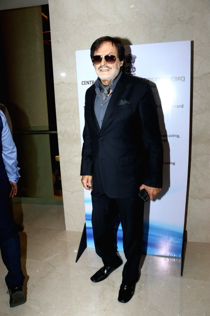 Actor Sanjay Khan during the launch of the new logo and certificate design of Central Board of Film Certification (CBFC) in Mumbai on Sept 1, 2019. - Sanjay Khan