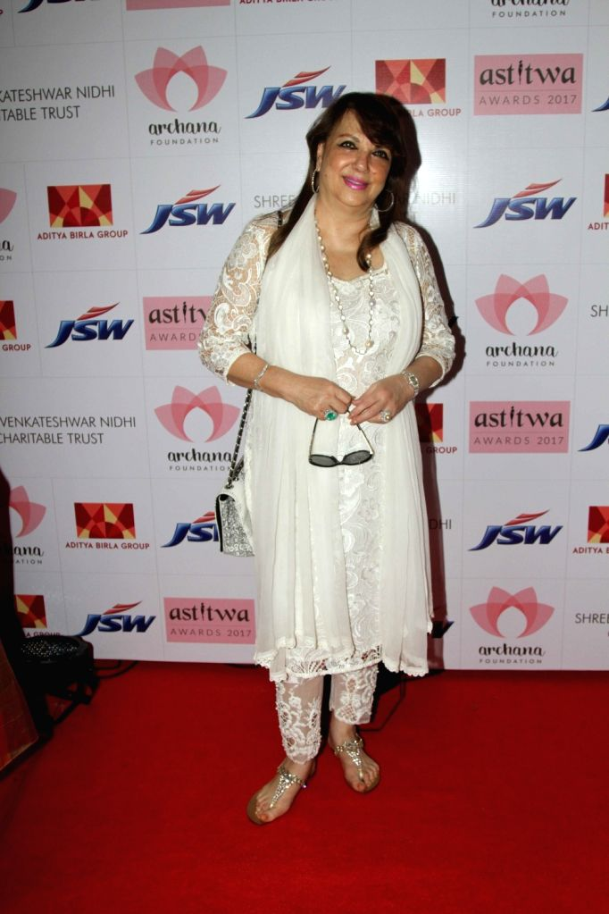 Actor Sanjay Khan's wife Zarine Khan during Archana Astitwa Awards 2017 in Mumbai on March 7, 2017. - Sanjay Khan and Zarine Khan