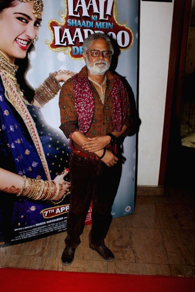 Actor Sanjay Misra during the Sangeet Ceremony for film Laali Ki Shaadi Mein Laaddoo Deewana in Mumbai on March 21, 2017. - Sanjay Misra