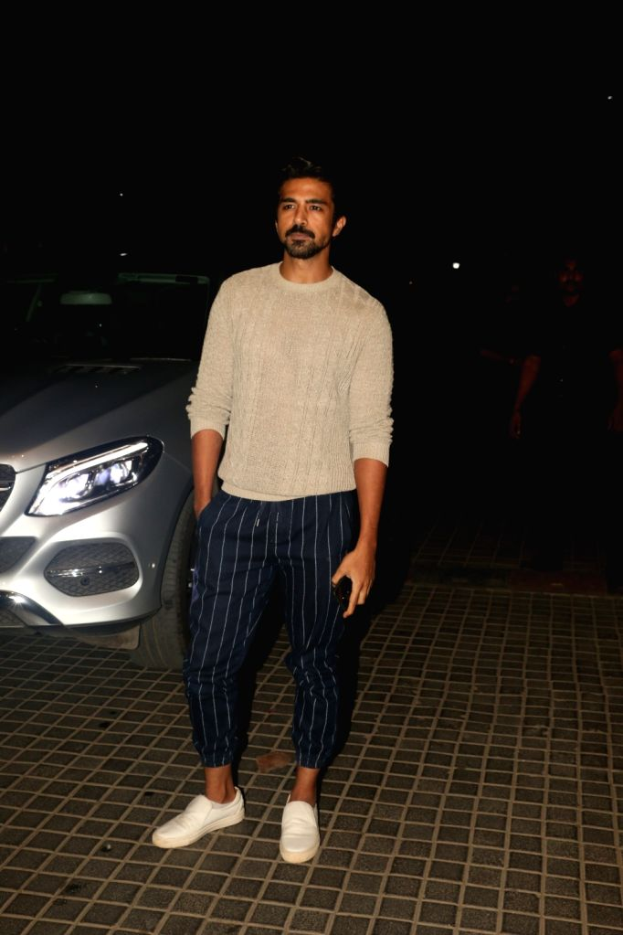 "Actor Saqib Saleem at the screening of the upcoming film ""India's Most Wanted"" in Mumbai, on May 22, 2019. - Saqib Saleem"