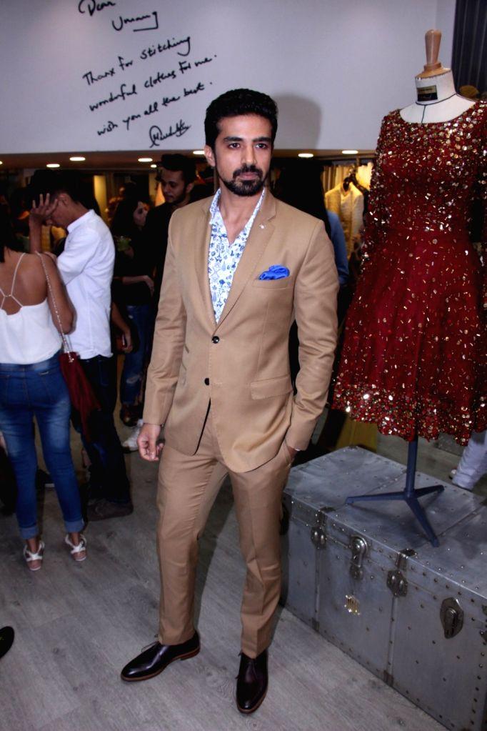 Actor Saqib Saleem during the launch of fashion designer Tanzila Antulay's debut collection at Umang Mehta store in Mumbai on Oct. 6, 2016. - Saqib Saleem and Umang Mehta