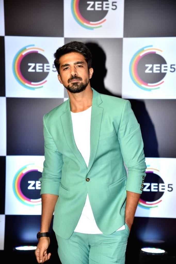 Actor Saqib Saleem on the red carpet of Zee5's first anniversary celebrations in Mumbai, on Feb 14, 2019. - Saqib Saleem
