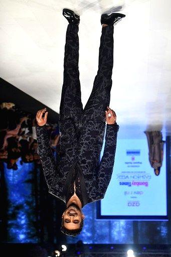 Actor Saqib Saleem walks the ramp showcasing the collection of fashion label Dev R Nil by fashion designers Dev and Nil on Day 3 of the Bombay Times Fashion Week, in Mumbai on March 15, 2020. - Saqib Saleem