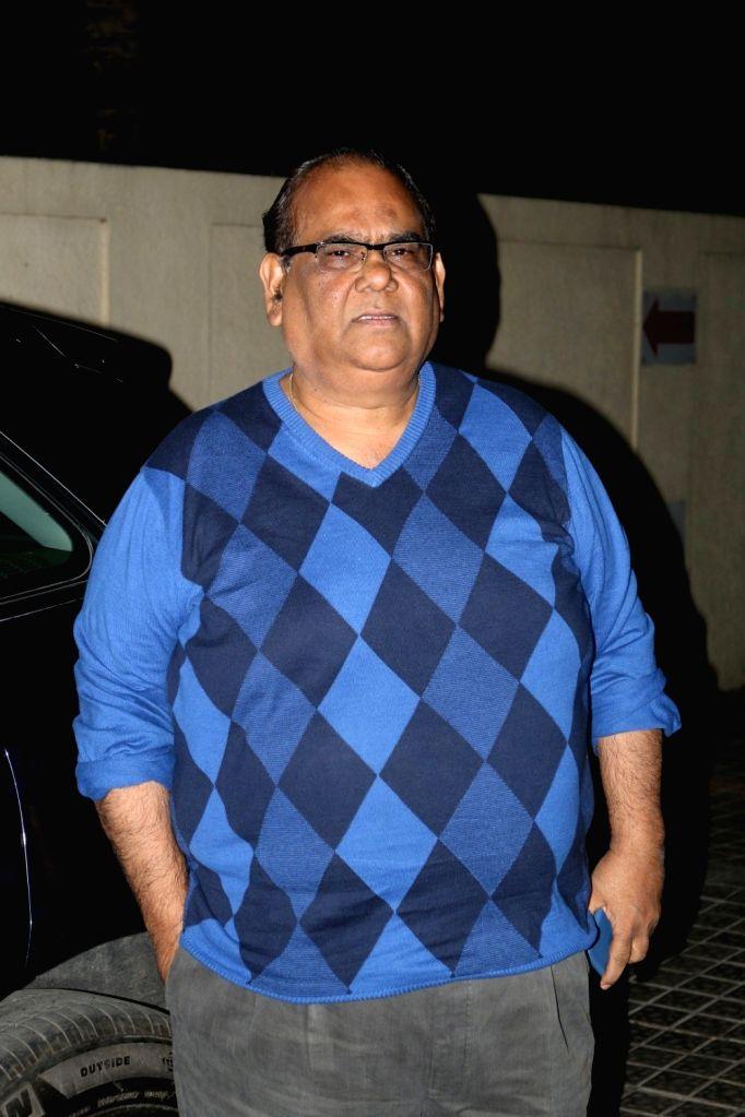 Actor Satish Kaushik  during the screening of film Badrinath Ki Dulhania in Mumbai on March 9, 2017. - Satish Kaushik