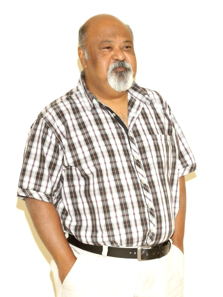 "Actor Saurabh Shukla during a press conference to promote his upcoming film ""Daas Dev"", in New Delhi on April 14, 2018. - Saurabh Shukla and Daas Dev"