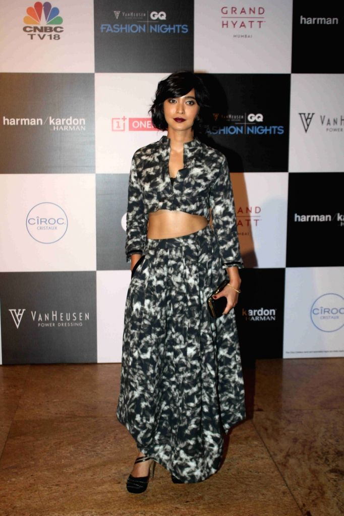 Actor Sayani Gupta during the Van Heusen GQ Fashion Nights 2015 Day 2 in Mumbai on Dec 2, 2015. - Sayani Gupta