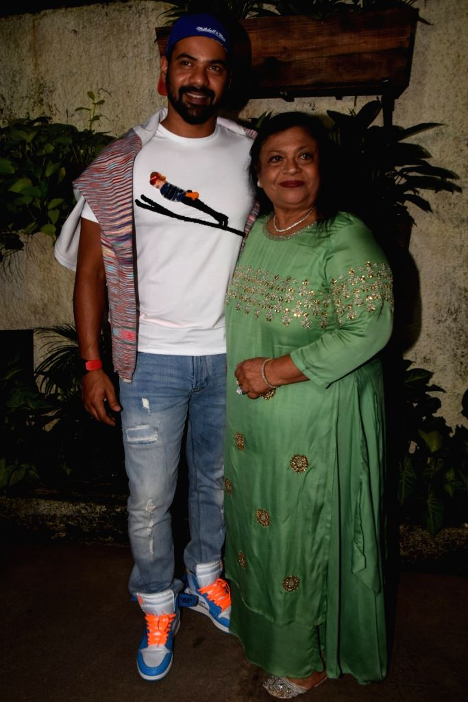 "Actor Shabbir Ahluwalia with his mother Mabel Ahluwalia at the screening of his upcoming web series ""Fixer"" on Oct 8, 2019. - Shabbir Ahluwalia"