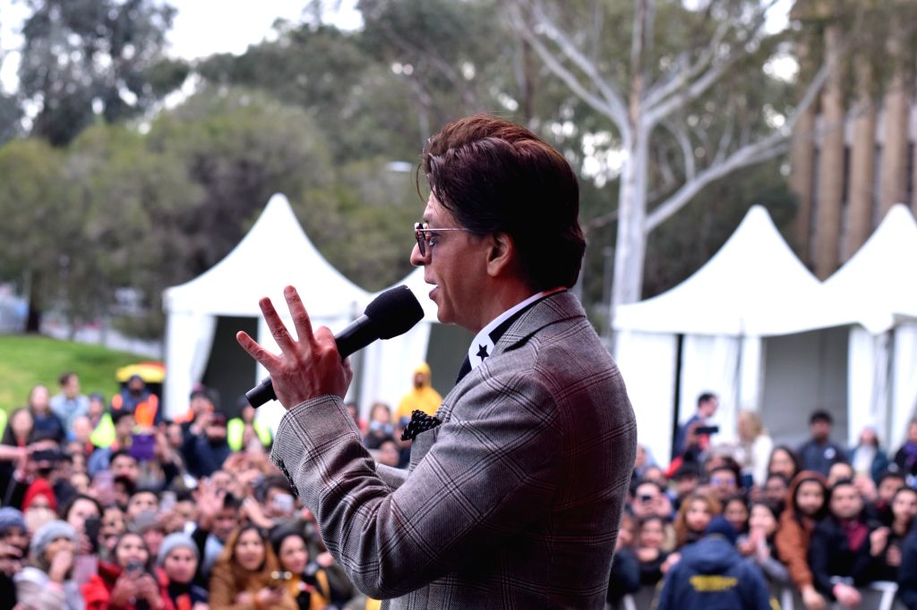 Actor Shah Rukh Khan addresses the students after receiving an honorary doctorate degree from for his contributions and efforts towards underprivileged children and women's empowerment ... - Shah Rukh Khan
