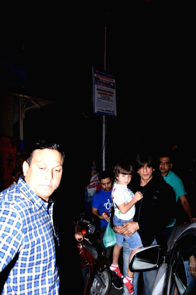 Actor Shah Rukh Khan and his son AbRam Khan seen at Bandra in Mumbai, on July 16, 2019. - Shah Rukh Khan