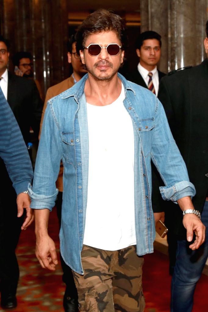 Actor Shah Rukh Khan at a Gurgaon hotel on Jan 25, 2017. - Shah Rukh Khan