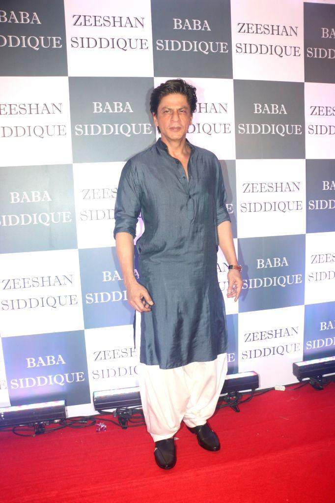 Actor Shah Rukh Khan at Congress leader Baba Siddique's Iftar party in Mumbai, on June 2, 2019. - Shah Rukh Khan
