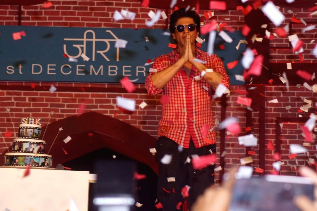 "Actor Shah Rukh Khan at the launch of the trailer of his upcoming film ""Zero"" in Mumbai on Nov 2, 2018. - Shah Rukh Khan"