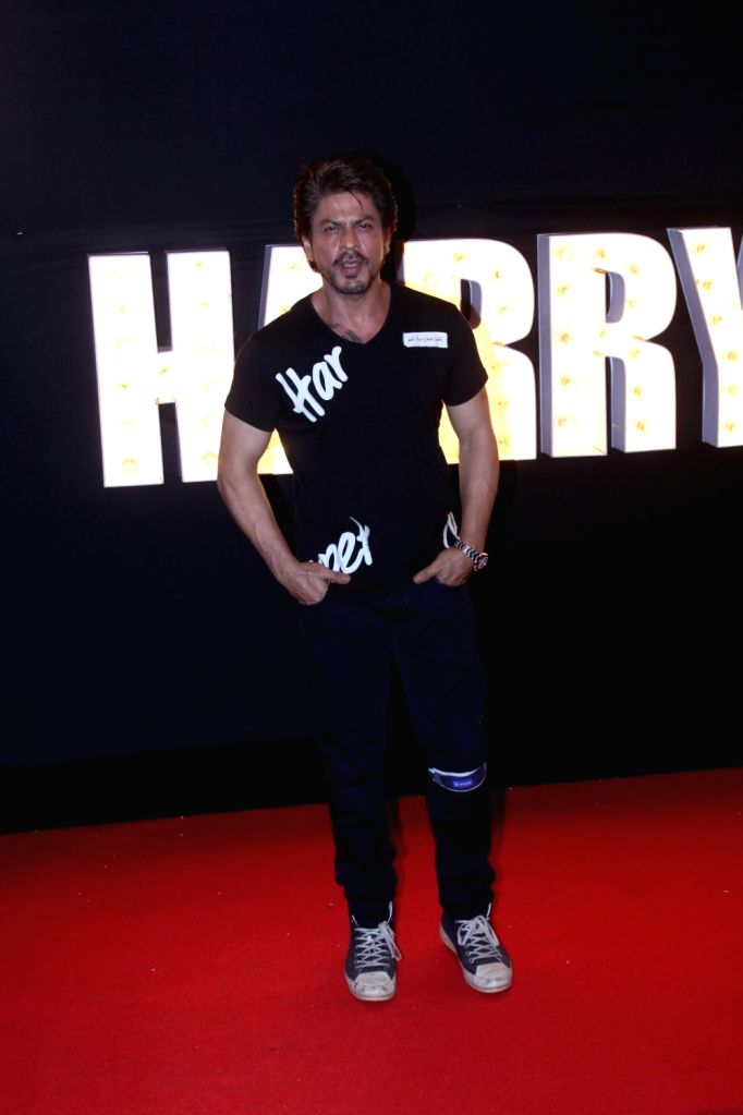 "Actor  Shah Rukh Khan at the preview of ""Beech Beech Mein"" a song from his upcoming film ""Jab Harry Met Sejal"" in Mumbai, on July 3, 2017. - Shah Rukh Khan"