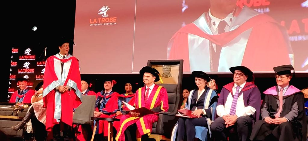 Image result for Shah Rukh Khan honoured with doctorate degree at La Trobe University