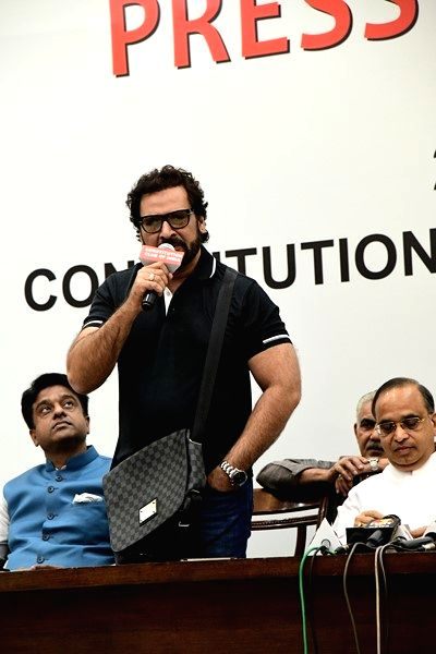 Actor Shahbaz Khan during a press conference regarding Luv Kush Ramleela in New Delhi on May 21, 2018. - Shahbaz Khan