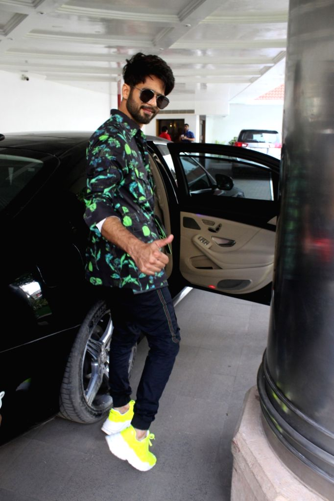 """Actor Shahid Kapoor arrives at the promotions of his upcoming film """"Kabir Singh"""" at Juhu in Mumbai, on June 15, 2019. - Shahid Kapoor and Kabir Singh"""