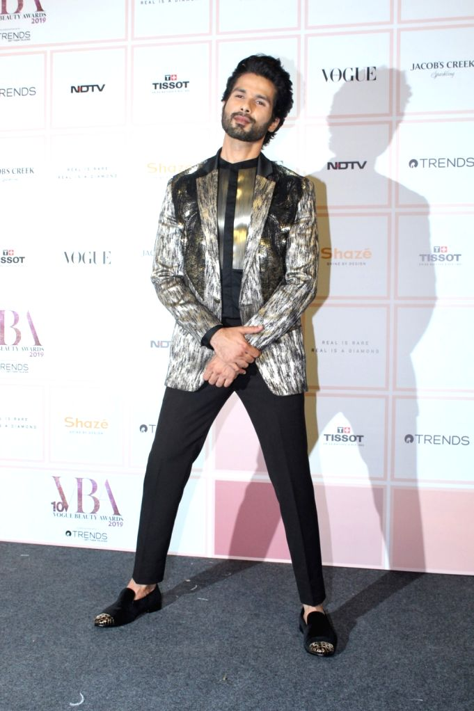 Actor Shahid Kapoor at 10th Vogue Beauty Awards in Mumbai on Sep 26, 2019. - Shahid Kapoor