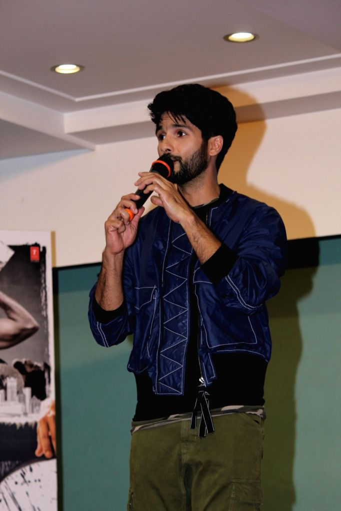 """Actor Shahid Kapoor at the launch of a song """"Mere Sohneya"""" of his upcoming film """"Kabir Singh"""", in Mumbai, on June 6, 2019. - Shahid Kapoor and Kabir Singh"""