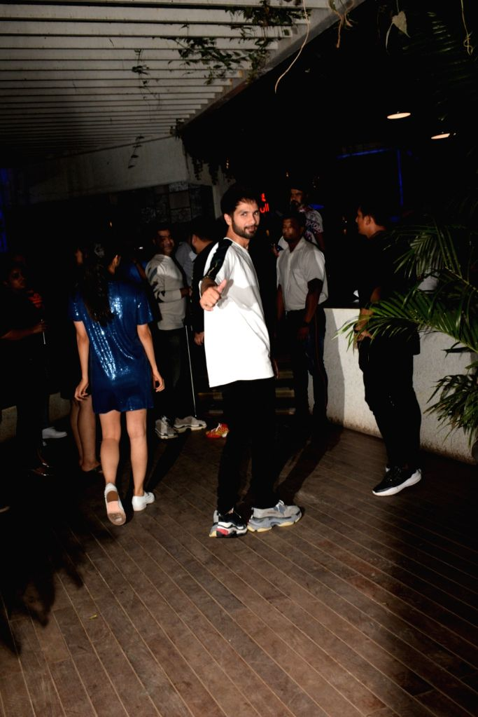"Actor Shahid Kapoor at the wrap up party of his upcoming film ""Kabir Singh"" in Mumbai, on April 11, 2019. - Shahid Kapoor and Kabir Singh"