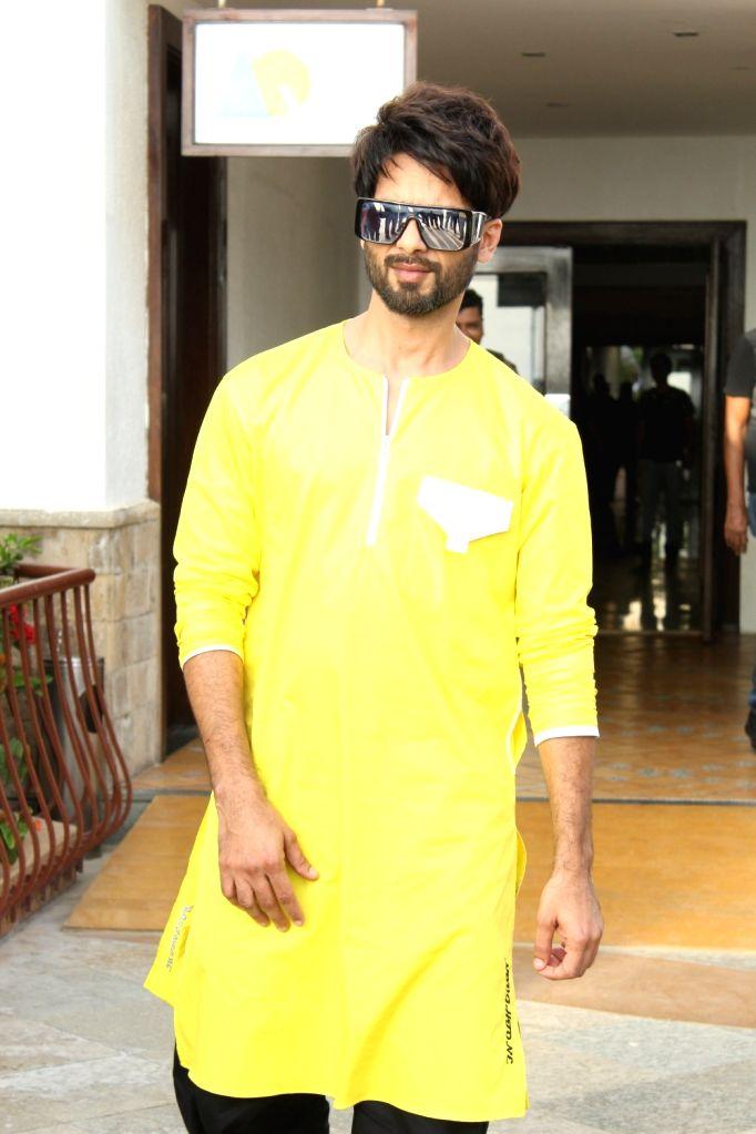 """Actor Shahid Kapoor during the promotions of his upcoming film """"Kabir Singh"""" in Mumbai, on June 1, 2019. - Shahid Kapoor and Kabir Singh"""