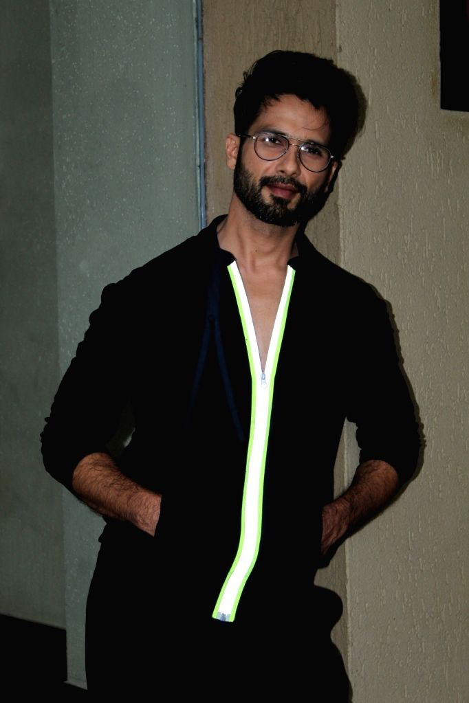 "Actor Shahid Kapoor during the promotions of his upcoming film ""Kabir Singh"" in Mumbai on June 12, 2019. - Shahid Kapoor and Kabir Singh"