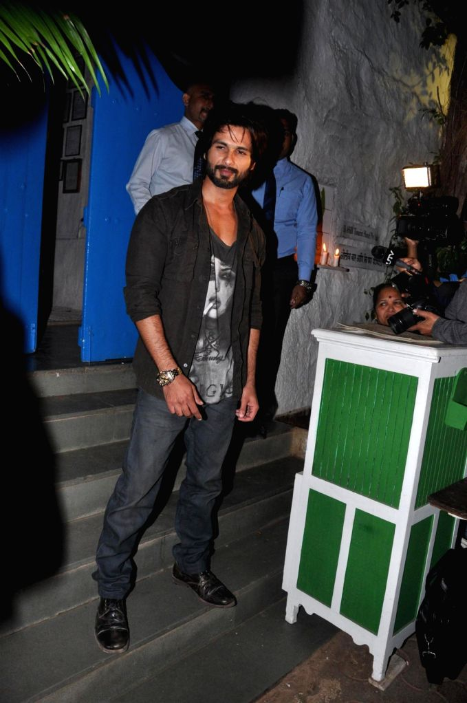 Actor Shahid Kapoor hosted a success party of his film R....Rajkumar in Mumbai on Friday, December 13th, 2013. - Shahid Kapoor