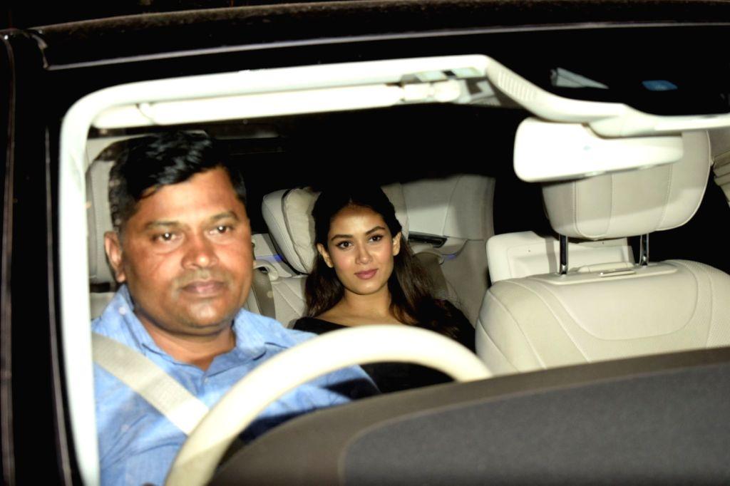 "Actor Shahid Kapoor's wife Mira Rajput at the special screening of film ""Dhadak"" in Mumbai on July 19, 2018. - Shahid Kapoor"