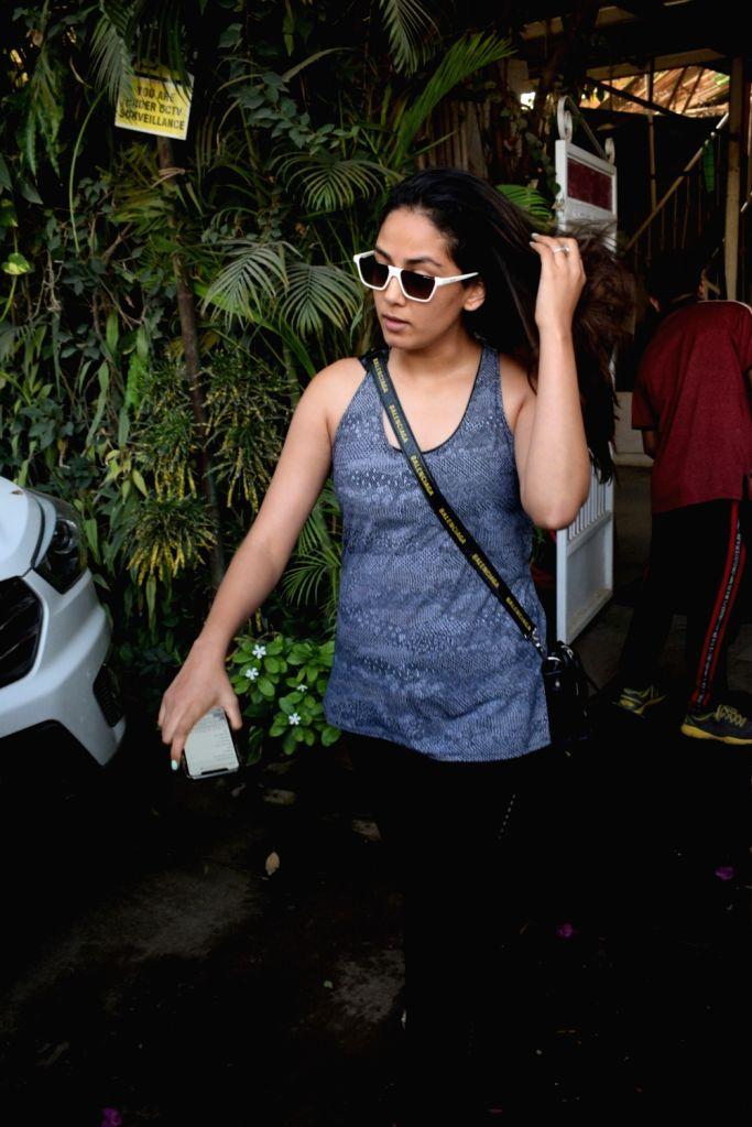 Actor Shahid Kapoor's wife Mira Rajput seen outside a gym in Mumbai, on May 31, 2019. - Shahid Kapoor