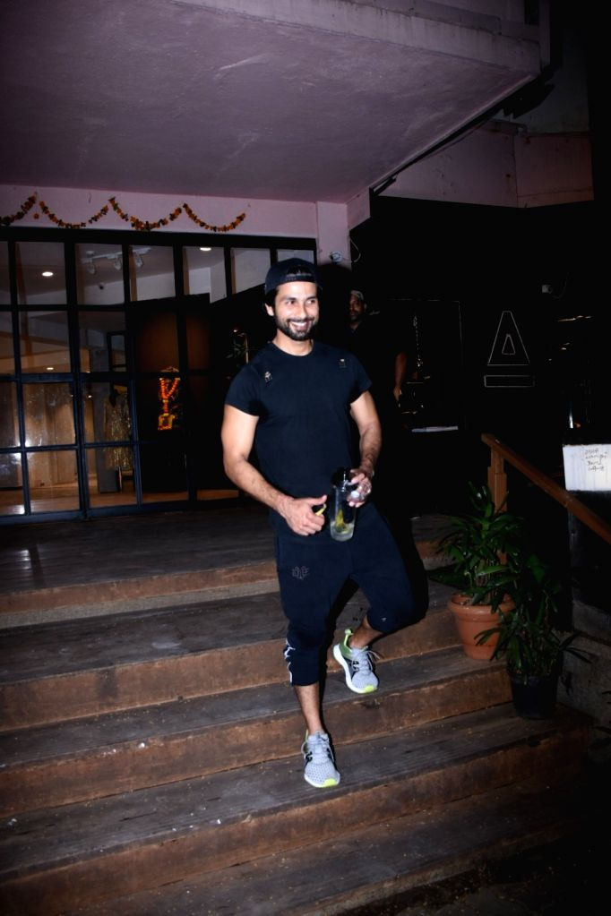 Actor Shahid Kapoor seen at a gym at Bandra in Mumbai on Oct 15, 2019. - Shahid Kapoor