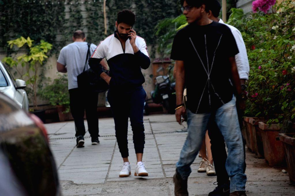 Actor Shahid Kapoor seen at bandra in Mumbai on Feb 7, 2018. - Shahid Kapoor