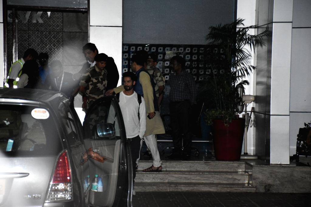 Actor Shahid Kapoor seen outside Chhatrapati Shivaji Maharaj International Airport in Mumbai, after attending Prime Minister Narendra Modi's swearing-in ceremony, on May 30, 2019. - Shahid Kapoor and Narendra Modi
