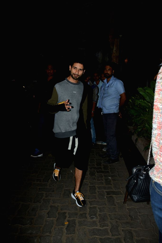 Actor Shahid Kapoor spotted at Palli Village Cafe Bandra in Mumbai on Feb 8, 2019. - Shahid Kapoor