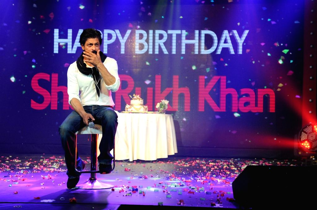 Actor Shahrukh Khan during a press conference on his 50th birthday, in Mumbai, on Nov 2, 2015. - Shahrukh Khan