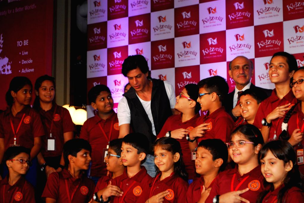 Actor Shahrukh Khan during Children`s Day celebrations in Mumbai on Nov. 11, 2014.