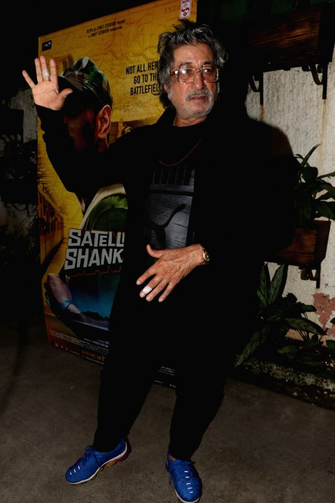 "Actor Shakti Kapoor at the special screening of her upcoming ""Satellite Shankar"" in Mumbai on Nov 6, 2019. - Shakti Kapoor"