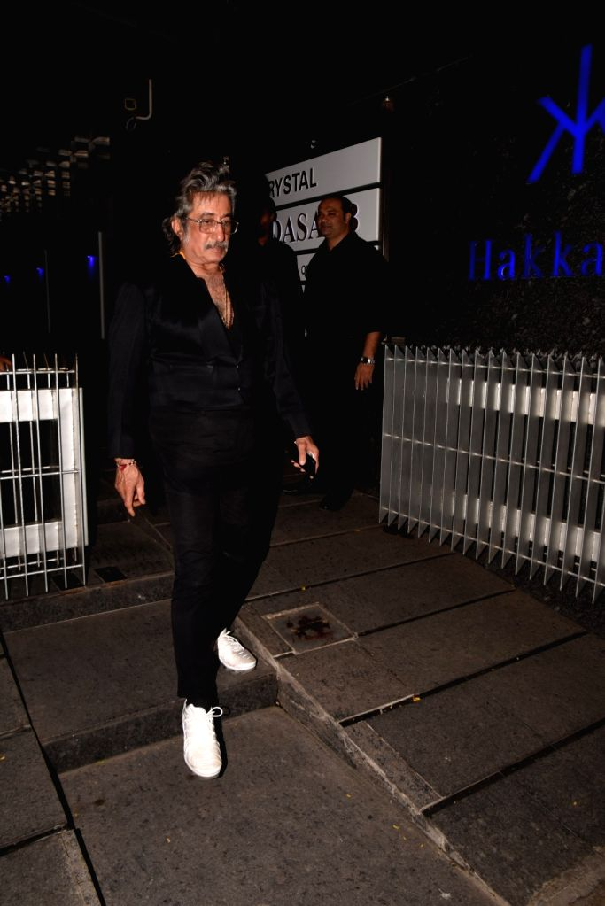 Actor Shakti Kapoor during actress Padmini Kohlapure's birthday bash in Mumbai on Oct 31, 2018. - Shakti Kapoor