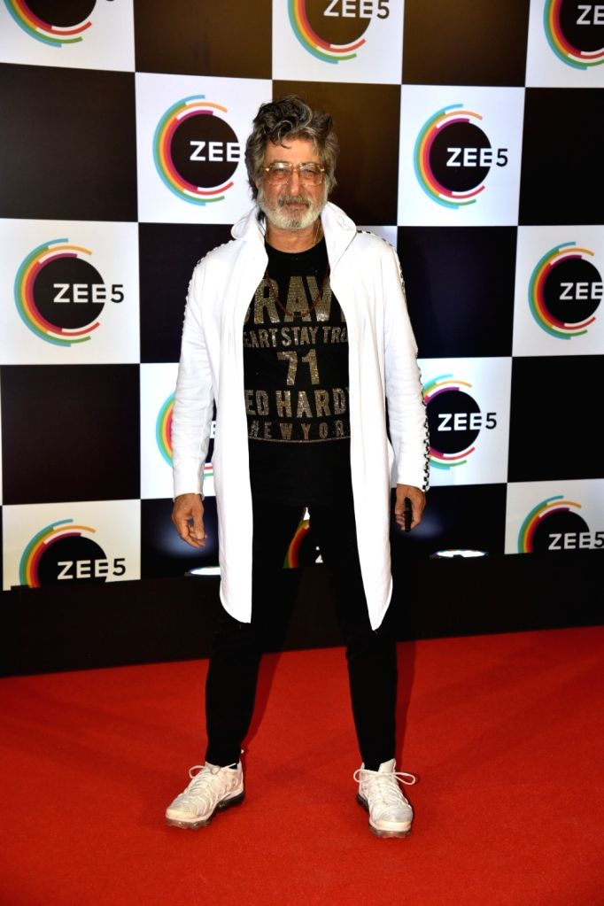 Actor Shakti Kapoor on the red carpet of Zee5's first anniversary celebrations in Mumbai, on Feb 14, 2019. - Shakti Kapoor