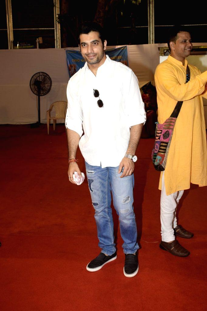Actor Sharad Malhotra during Janmashtami celebrations at ISKCON temple, in Mumbai on Sept 3, 2018. - Sharad Malhotra